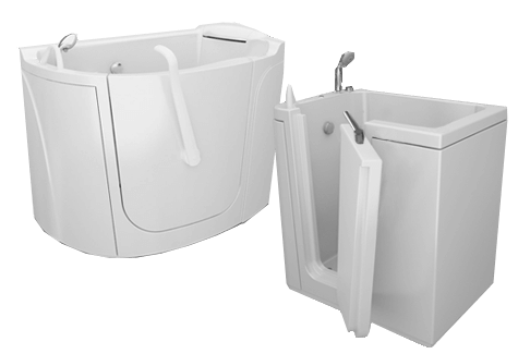 Bathtubs with door for the elderly and disabled people