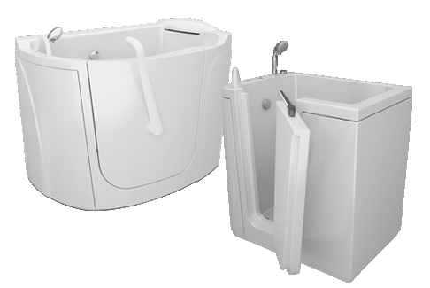 Bathtubs with door for elderly and disabed